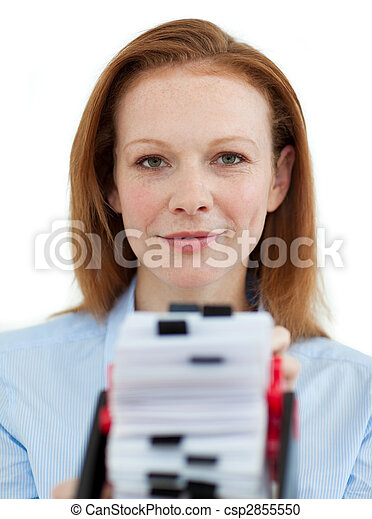 Attractive businesswoman  - csp2855550