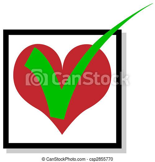Love to checkmark - csp2855770