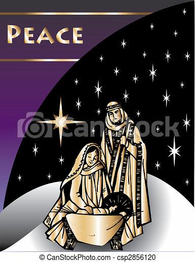 Nativity Christmas Card 2 - csp2856120