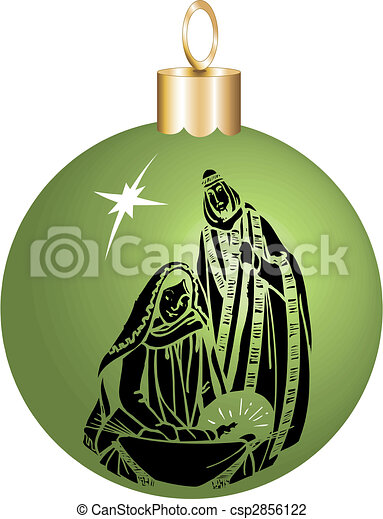 nativity ornament - csp2856122