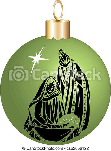 nativity ornament - csp2856122