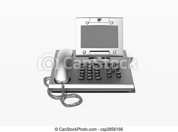 Stylish office phone with copyspace - csp2856166
