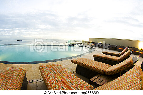 infinity pool luxury port of spain trinidad - csp2856280