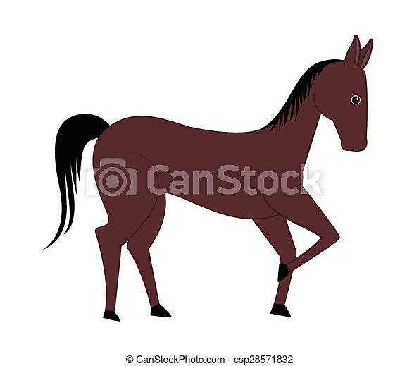 Vectors of Comic Horse - Cartoon Comic Horse Animal Vector ...