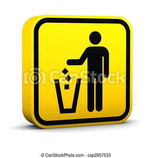 Litter Disposal Sign - csp2857533