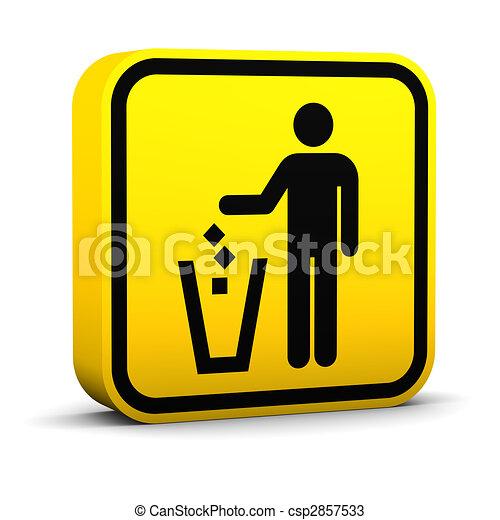 Litter Disposal Sign - csp2857533