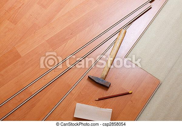wood flooring and tools - csp2858054