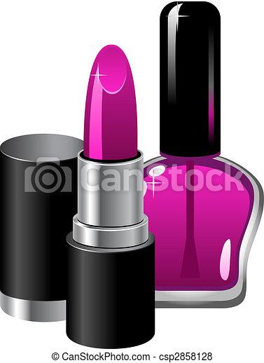 Lipstick and nail polish - csp2858128