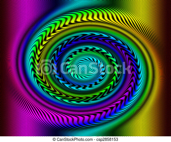 Rainbow Swirl Optical Illusion - csp2858153