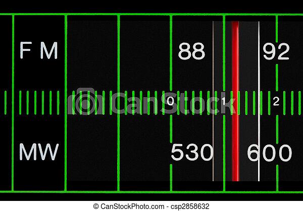 vintage radio tuner - csp2858632