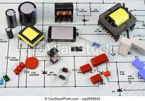 Electronic components and the electric scheme - csp2858645