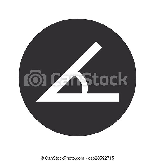 Vector Clip Art of Monochrome round angle icon - Image of angle in ...