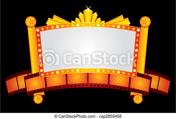 Gold cinema neon - csp2859458