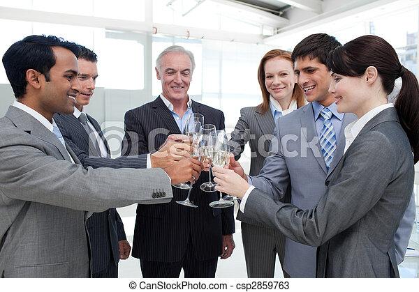 Cheerful businesspeople - csp2859763