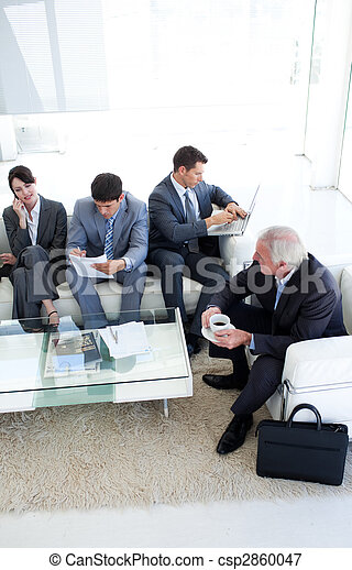 International Business people sitting and waiting for a job interview. Business concept. - csp2860047
