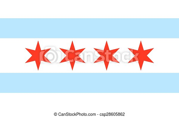 Chicago flag - csp28605862