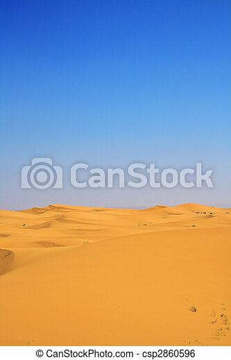 sand dunes and cloudless blue sky - csp2860596