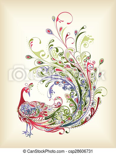 Vectors of Abstract Peacock - Illustration of abstract ...