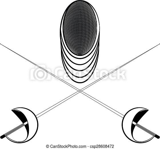 Vectors Illustration of illustration helmet and sword ...