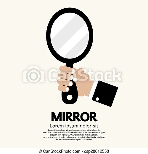 Clipart Vector Of Mirror Hand Holding Mirror Vector