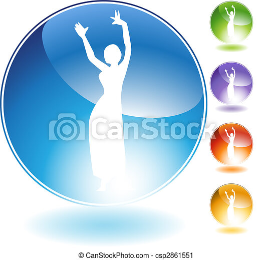 Belly Dancer People Crystal Icon - csp2861551