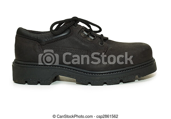 Heavy-duty shoe isolated on the white background - csp2861562