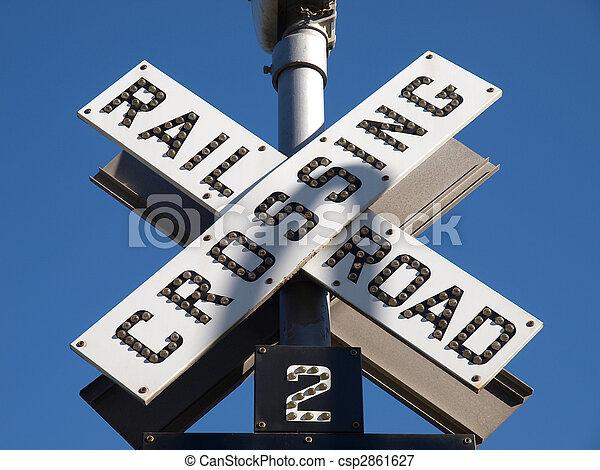 Railroad Crossing Sign - csp2861627
