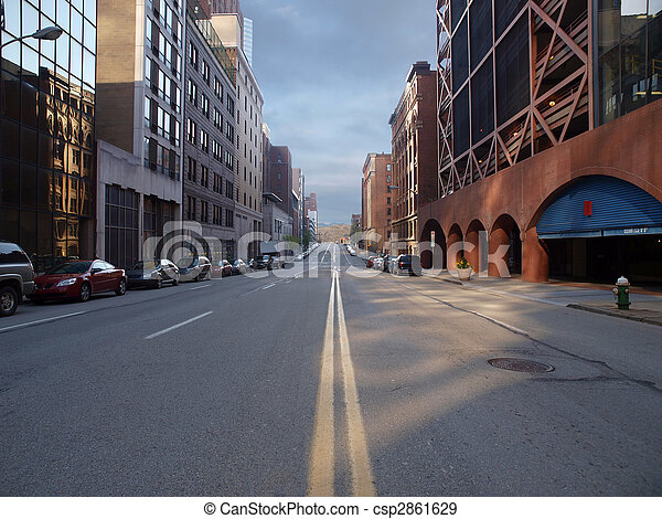 Pittsburgh, cidade, rua - csp2861629