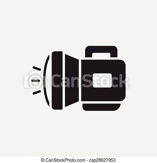 Taschenlampe clipart  Clipart Vektor von taschenlampe, ikone csp28627953 - Suchen Sie ...