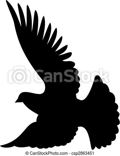 Dove silhouette vector - csp2863451