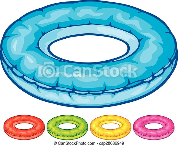 All Round Tire >> EPS Vector of inflatable inner tube (floater, swimming tire, floating... csp28636949 - Search ...
