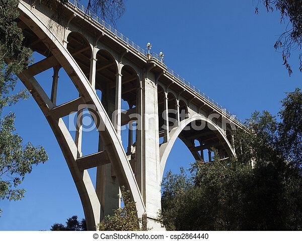 Historic Pasadena Bridge - csp2864440