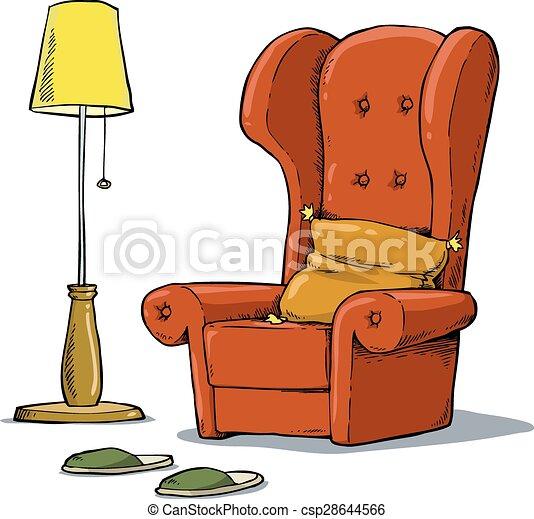clip art vecteur de fauteuil confortable a confortable