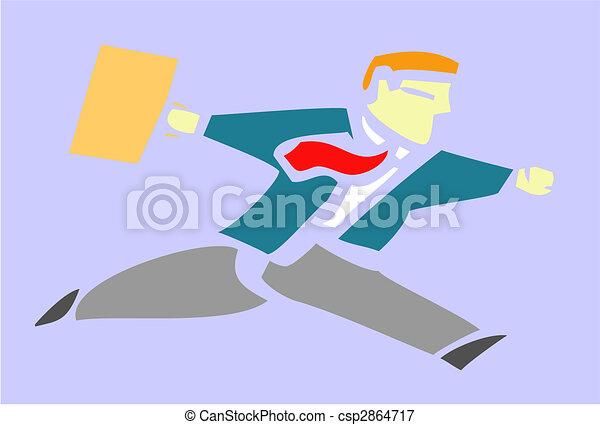 Running Businessman - csp2864717