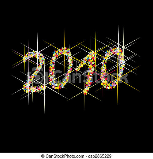 New Year colourful fireworks - csp2865229
