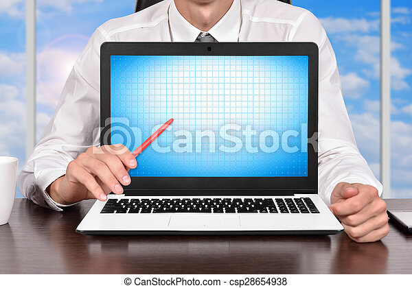 homem negócios, escritório - csp28654938