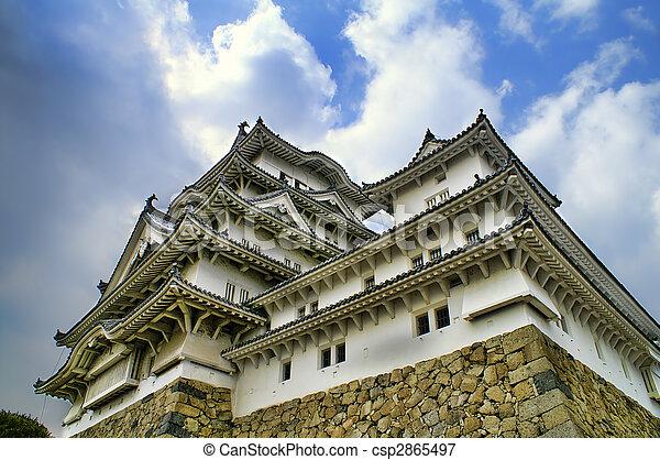 Majestic Castle of Himeji in Japan. - csp2865497