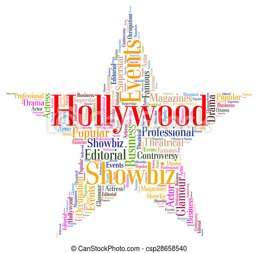 drawing of hollywood star means los angeles and california