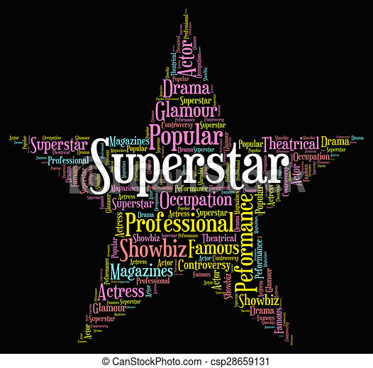 ... Superstar Word... csp28659131 - Search Clipart, Illustration, and EPS