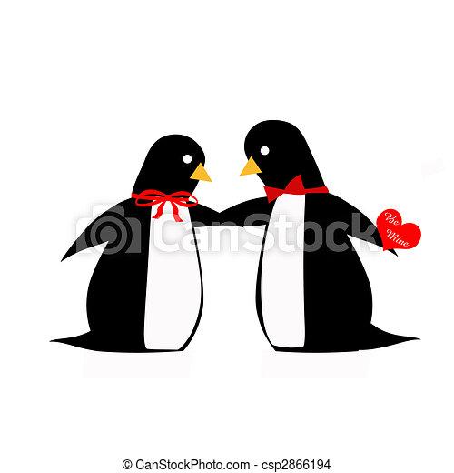 Penguin Couple Drawing Penguin Couple d
