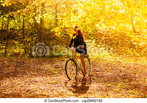 ... , 公園, 自転車, 屋外 - csp28662166
