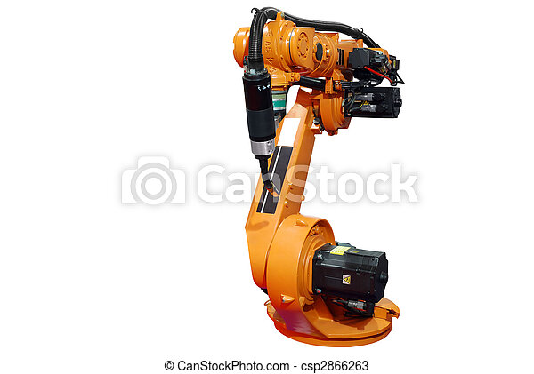 industrial robotic arm isolated - csp2866263
