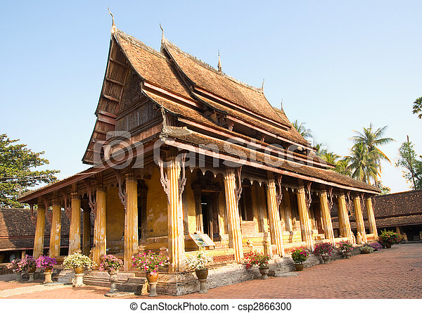 Wat Sisaket, Vientiane, Laos - csp2866300