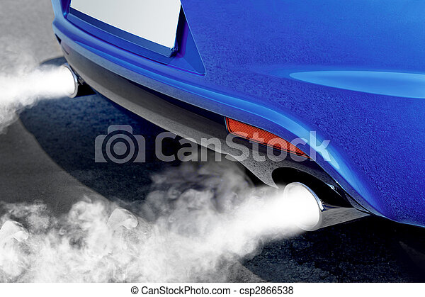 pollution of environment from powerful car - csp2866538