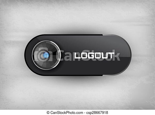 Logout Button Logo Logout Button Csp28667918