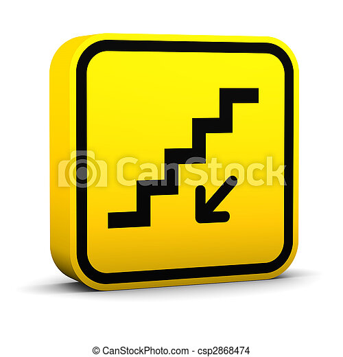 Stairs Down Sign - csp2868474