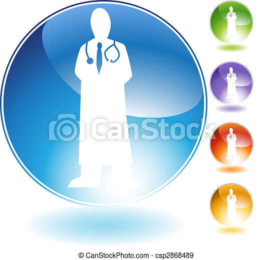 Physician Crystal Icon - csp2868489