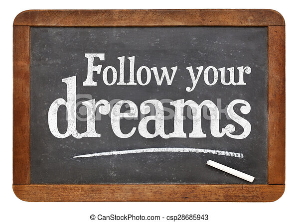 Follow Your Dreams Clipart Drawing of Foll...