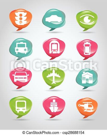 Transportation icon  - csp28688154