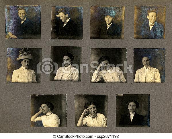 Vintage Portrait Proofs - csp2871192